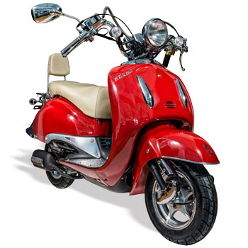Scooter Eccho La Choupette 50 rouge - Yiying YY50Q